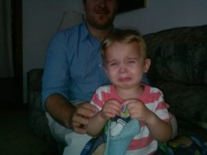 For some kids, a firm word is all it takes to bring out the tears - like with my grandson.